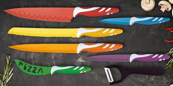 Sada 6 nožů a škrabky s antiadhezním povrchem