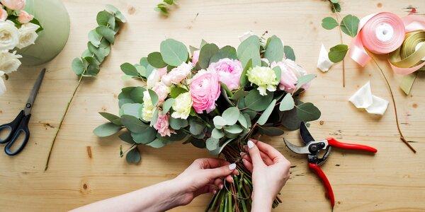 90minutový kurz floristiky včetně občerstvení