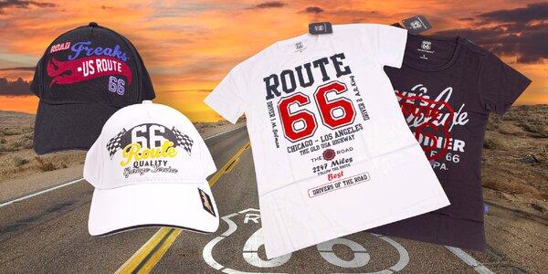 Dámská i pánská trička a kšiltovky Route 66