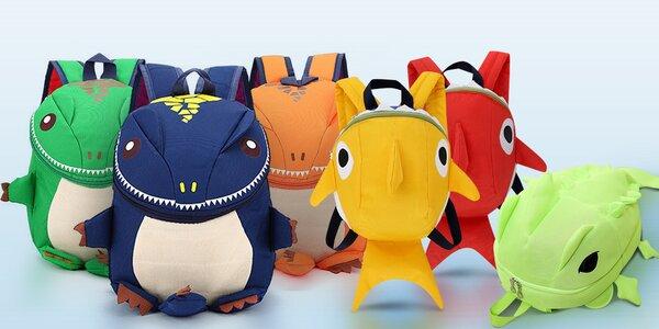 Dětské batůžky: dinosaurus, žralok či chameleon