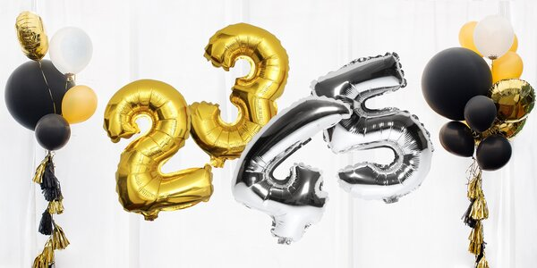 Nafukovací balónky ve tvaru čísel: 80 cm