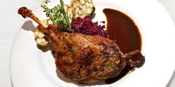 Velké svatomartinské menu U Tří pštrosů pro 2