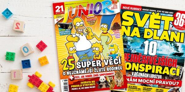 Předplatné dětského časopisu Junior s bonusem