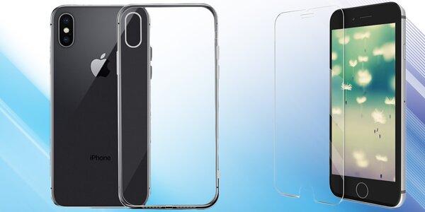 Tvrzené sklo a silikonový kryt na telefony iPhone