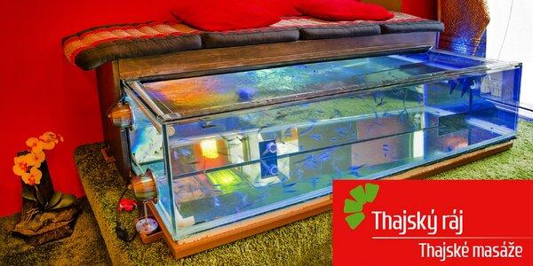 Relax s rybičkami Garra Rufa v Thajském ráji