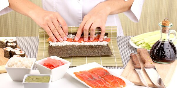 Kurz přípravy sushi v Café Buddha
