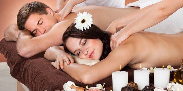60minutová thajská masáž pro dva dle výběru