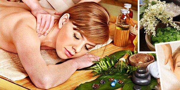 Antimigrénová masáž hlavy + aroma masáž páteře