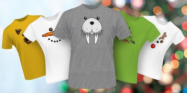 Veselá vánoční trička: prasátko, kapřík i sob