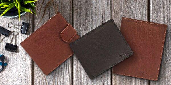 Pánské peněženky Delami z jemné kůže v krabičce