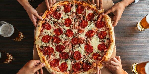 Křupavá 33cm pizza podle výběru ze 7 druhů
