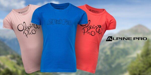 Dětská trika Alpine Pro z výběrové bavlny