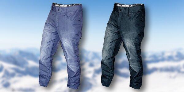 Pánské zimní membránové kalhoty s designem džín