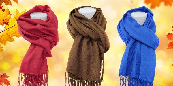Pašmínové šály v mnoha barvách