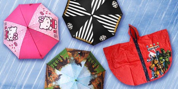 Dětské deštníky a pláštěnky pro holky i kluky