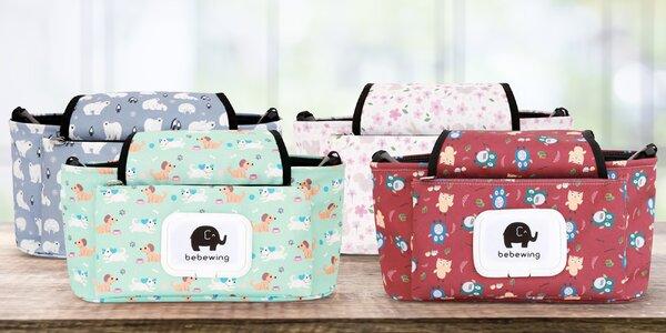 Veselé a praktické tašky na kočárek