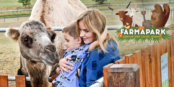 Dárek Farmapark: rodinná vstupenka 1 + 1 zdarma