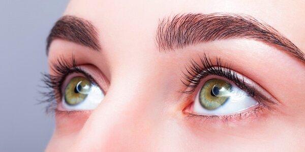 Trvalá a barvení řas včetně masáže očního okolí