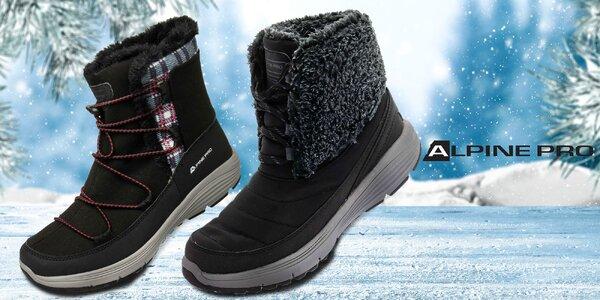 Dámské pohodlné zimní boty Alpine Pro s kožíškem