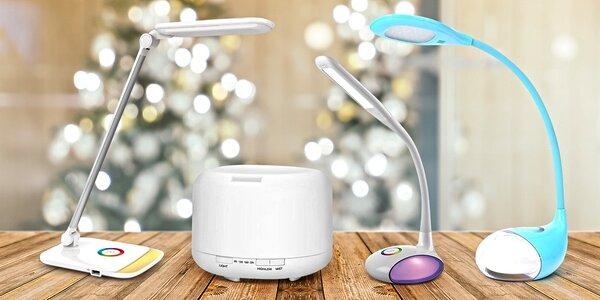 LED stolní lampičky se stmívačem i difuzérem