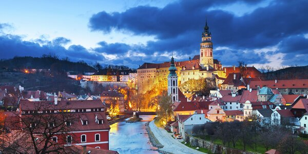 Český Krumlov: hotel přímo v centru a polopenze