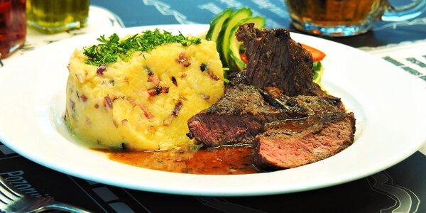 3chodové menu pro 2: salát, steak i dezert