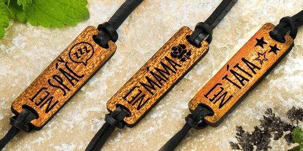 Dřevěné náramky pro nejlepší členy rodiny