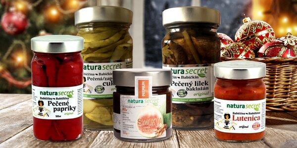 Zavařená zelenina a fíkový džem – 100% přírodní