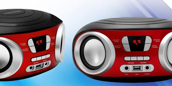 Přehrávač Boombox s USB a výkonem 2 x 3 W