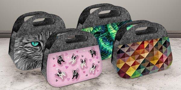Stylová svačinová taška: mnoho barev a vzorů