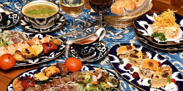 Uzbecké degustační menu i s vínem pro dva