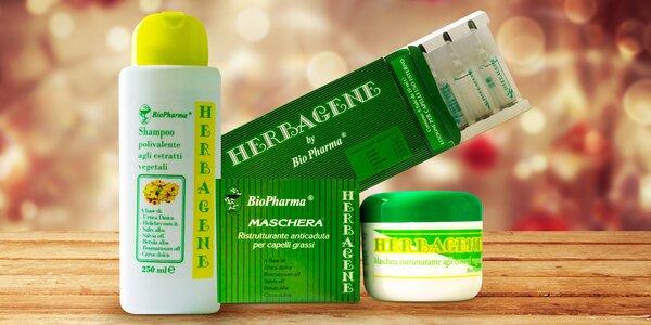 Šampon, ampule a maska proti vypadávání vlasů
