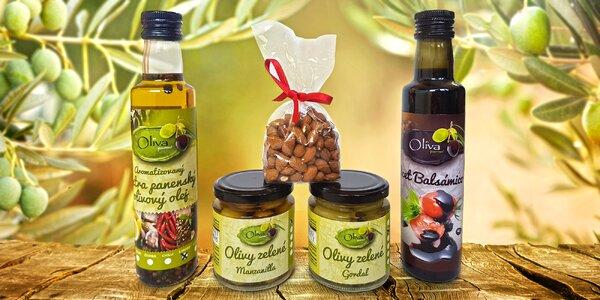 Dárkové balení španělských dobrot: olej i mandle