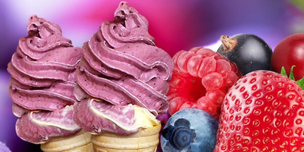 Dvě točené zmrzliny z celého ovoce dle výběru