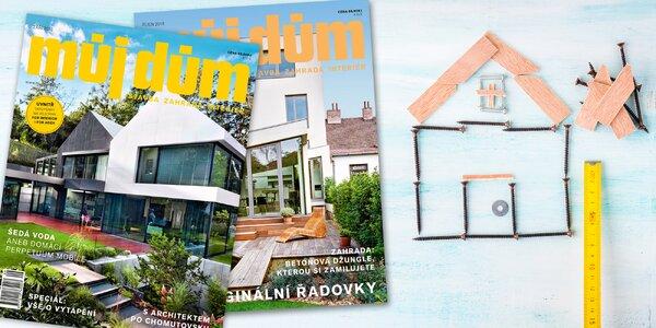 Roční předplatné časopisu Můj dům na rok 2019