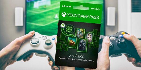 Měsíční nebo půlroční Game Pass na Xbox a PC