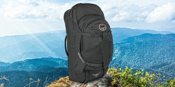 Cestovní batoh Osprey: objem 52 l nebo 55 l