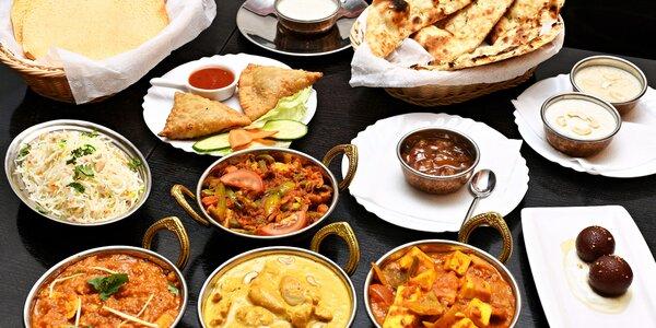 Malé nebo velké indické menu pro 2 osoby