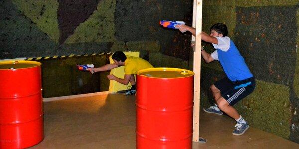 Střílečka pěnovými projektily: vstup do NERF arény