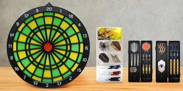 Značkové šipky Sport Darts, terč a náhradní díly