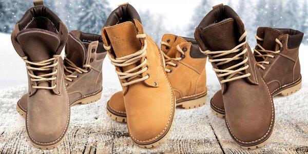 Ručně šité zimní boty z pravé kůže