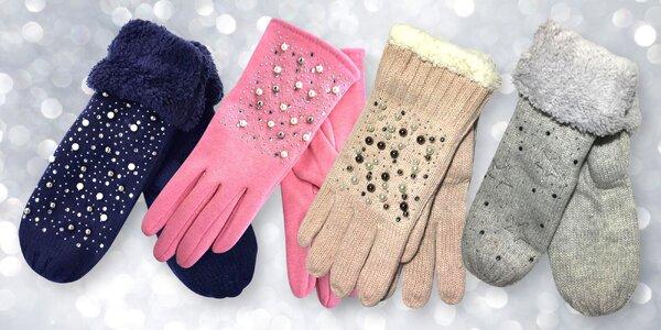 Elegantní zdobené dámské rukavice