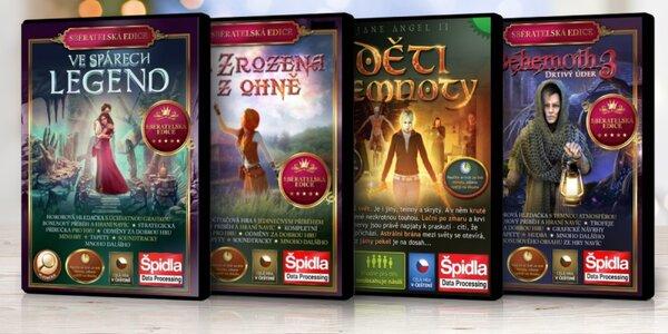 Kolekce počítačových her různých žánrů v češtině