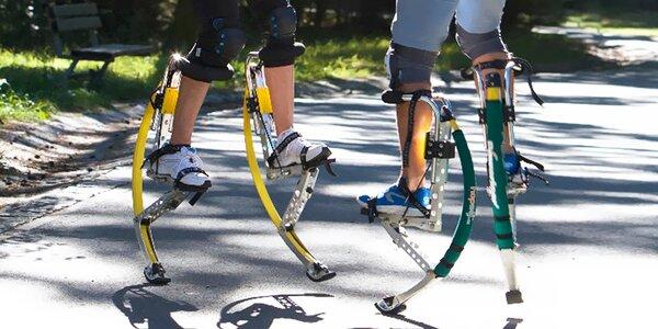 Hodina na skákacích botách s trenérem pro dva
