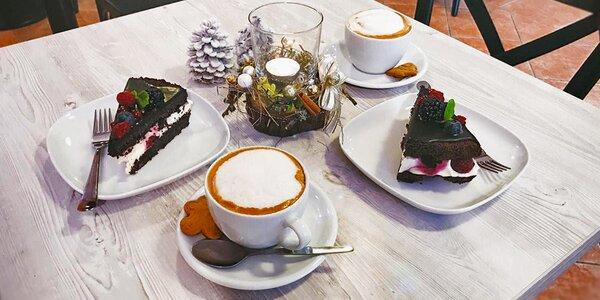 Posezení u kávy a lahodného dezertu pro dva