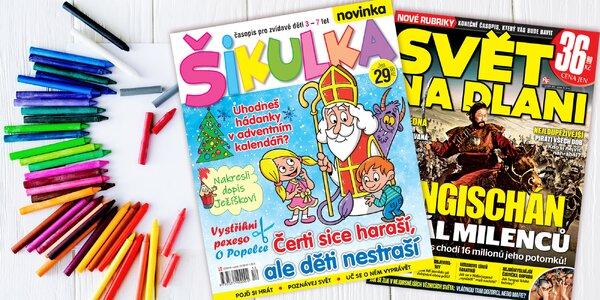 Předplatné Šikulka a el. verze Svět na dlani