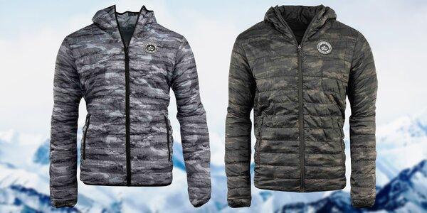 Pánské oboustranné bundy Alpine Pro: šedá i khaki