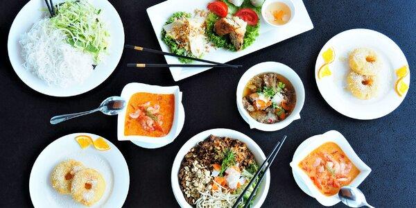 Autentické vietnamské menu o 4 chodech