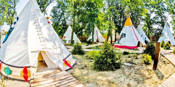 Dobrodružný rodinný pobyt v indiánském teepee