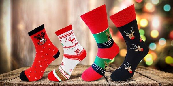 Pánské i dámské veselé vánoční ponožky